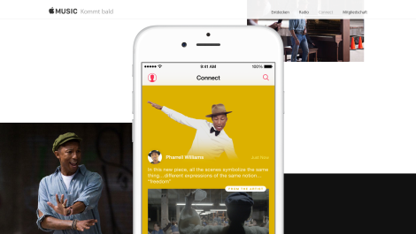 Screenshot: Apple Music Homepage